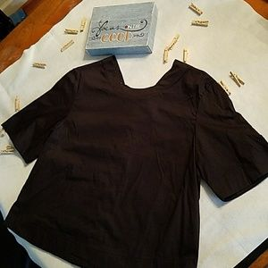 BNWOT Anthropologie Guest Editor Lace up back top